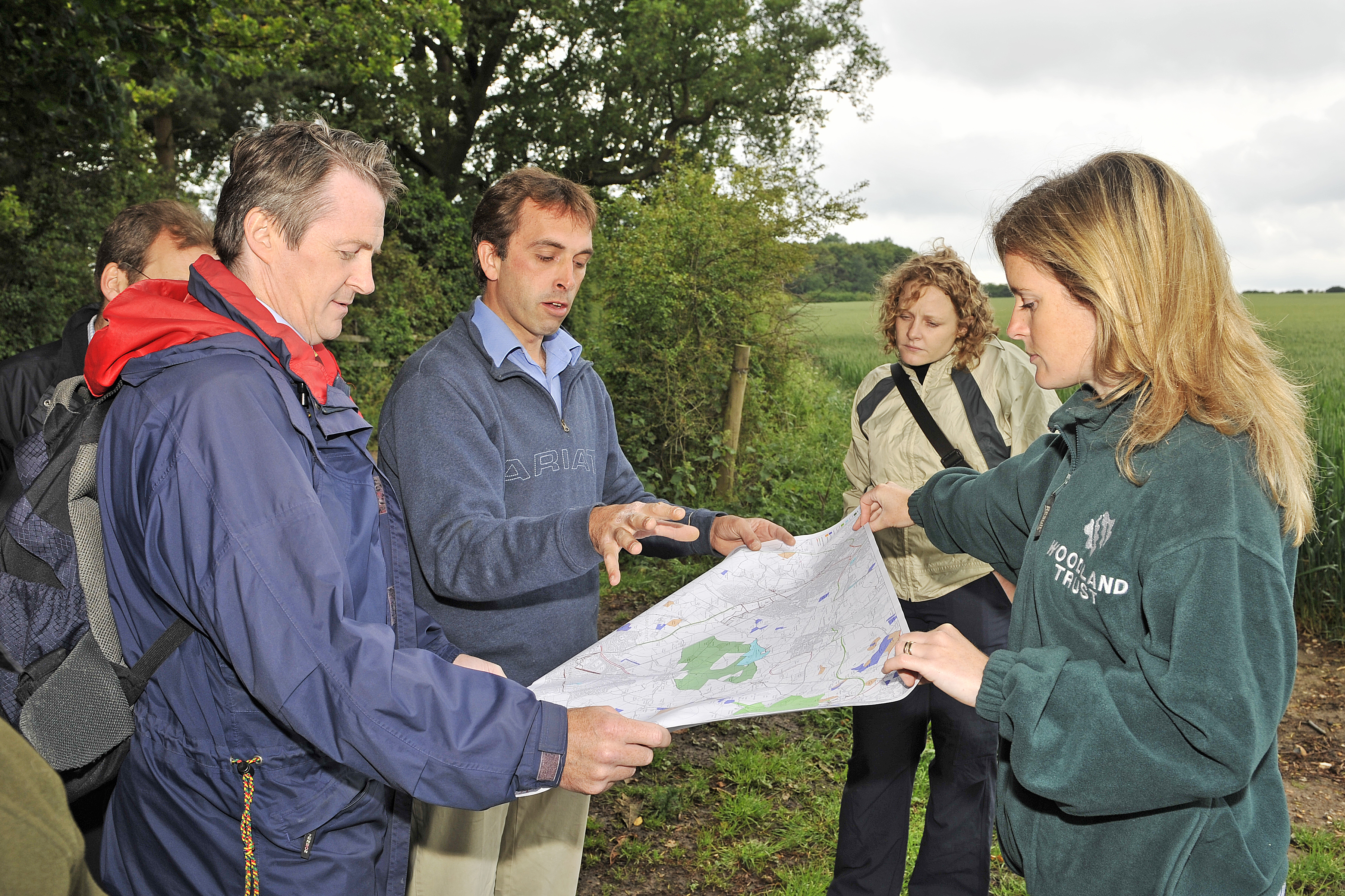 Woodland Trust staff at Heartwood Forest