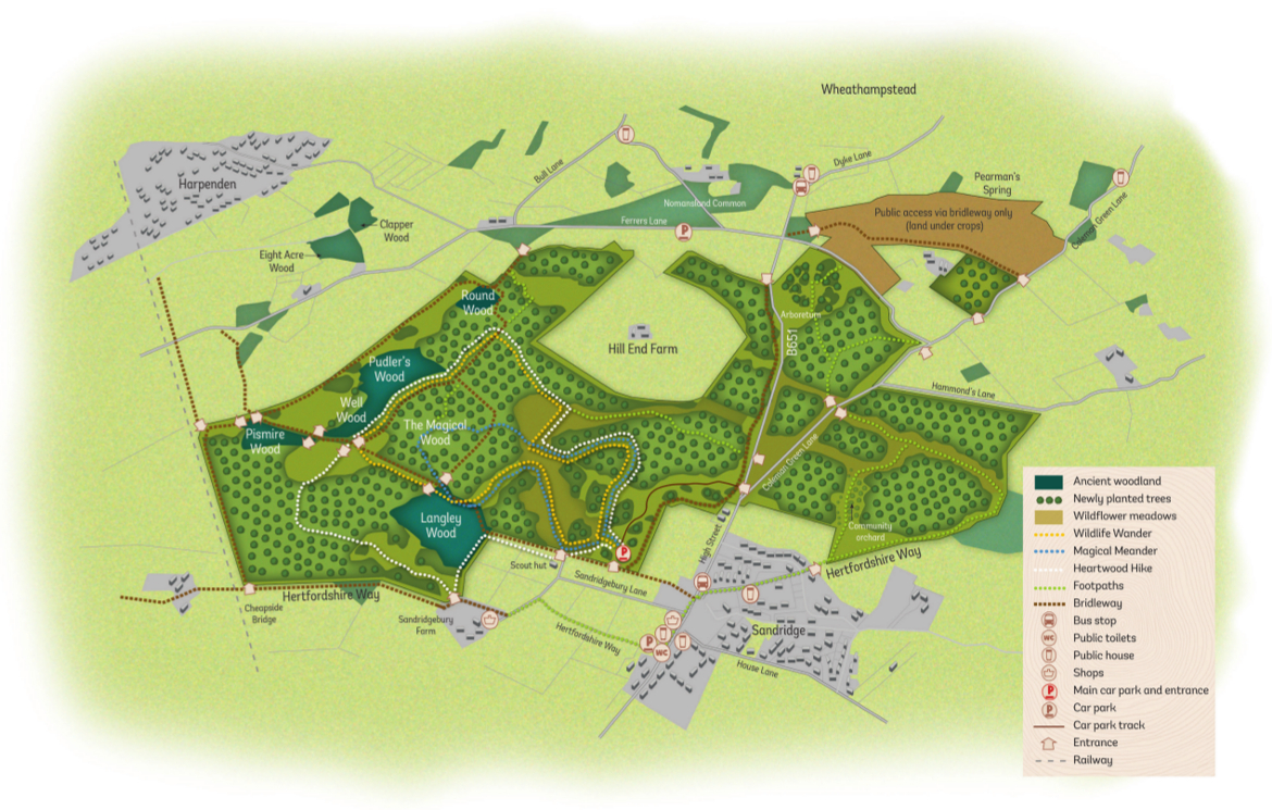 Heartwood walks map