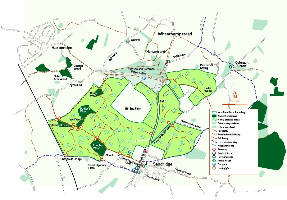 Heartwood Forest Map How to get to Heartwood Forest | The Woodland Trust