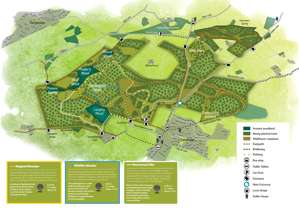 Heartwood Forest Map Walking at Heartwood Forest | The Woodland Trust